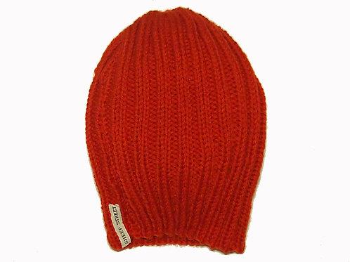 Burnt Orange Ribbed Hat