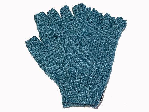 Aqua Blue Steptoe Gloves