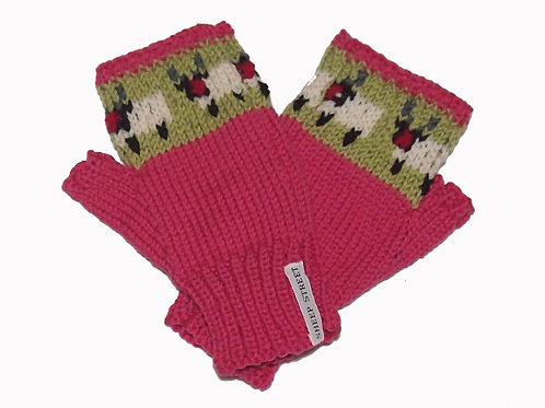 Ladies Pink Fingerless MItts