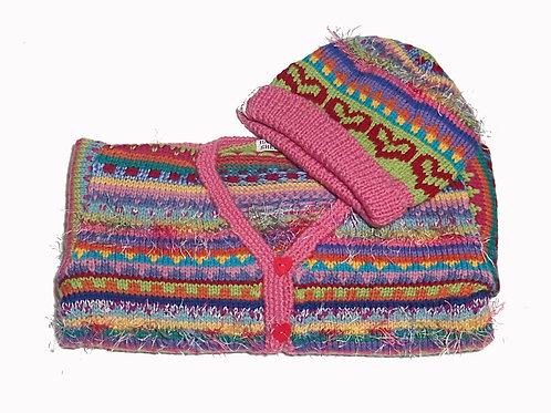 Size 4 - Pink Band Cardigan