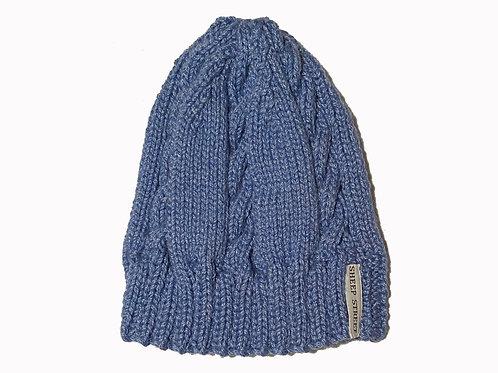 Blue cabled Cap