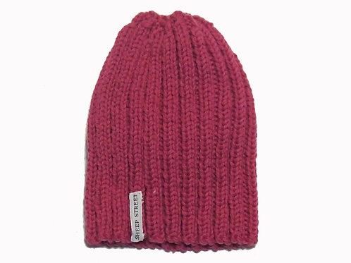 Pink Ribbed Cap