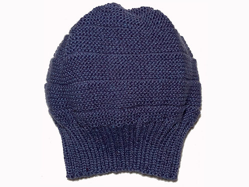 Mid Blue Slouch Beanie