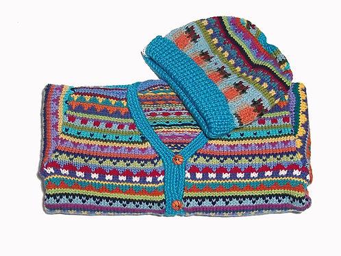 Size 4 - Aqua Band Cardigan