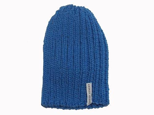Blue Ribbed Cap