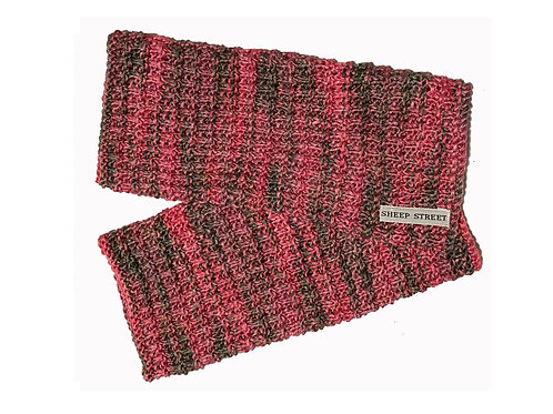 Pink and Grey Fingerless Gloves