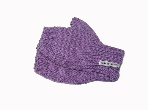 Purple Short Fingerless Gloves