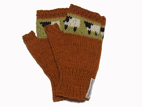 Bark Fingerless Gloves