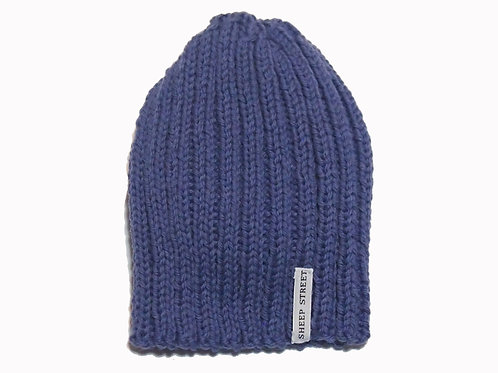 Purple Ribbed Cap