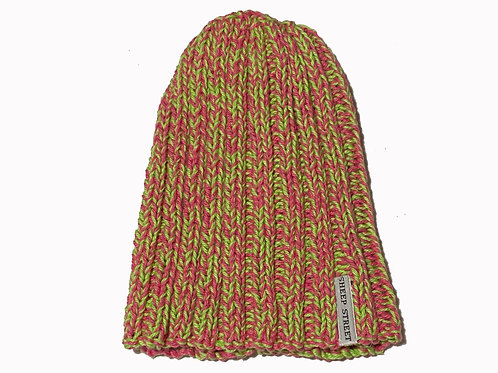 Pink/Lime Cotton Hat