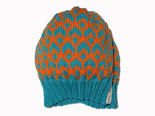Blue/Orange Slouch Cap