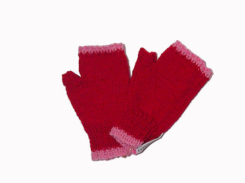 Red and Pink Steptoe Gloves