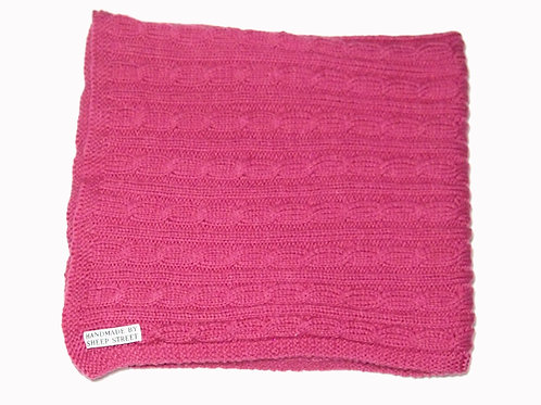 Pink Cabled Blanket