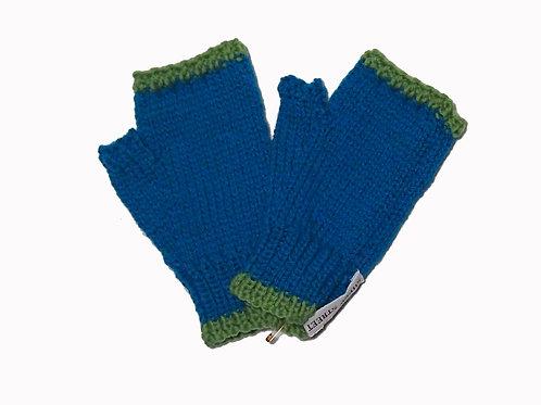 Aqua and Green Steptoe Gloves