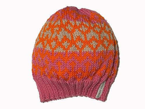 Pink/Orange/Bone Slouch Cap