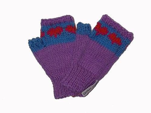 Purple and Light Blue Steptoe Gloves