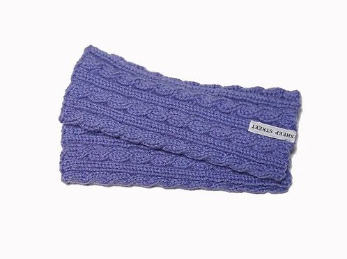 Light Purple Cabled Fingerless Gloves