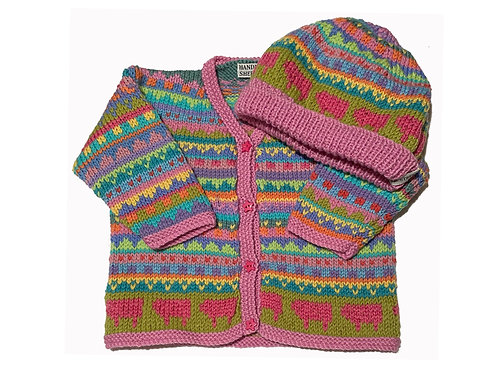 Size 6-12 Months - Pink Band Cardigan