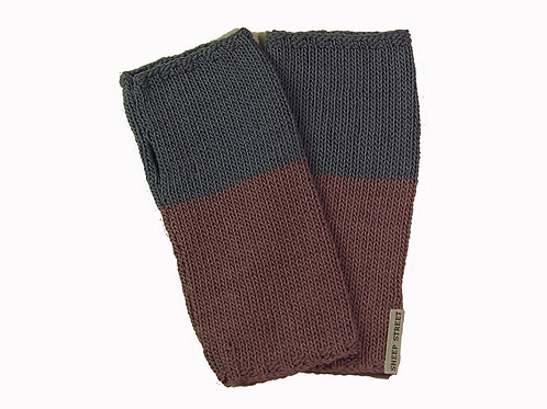 Pink and Blue Fingerless Gloves