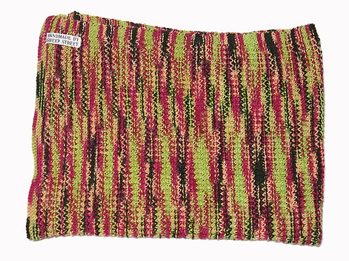 Green, Pink and Brown Blanket