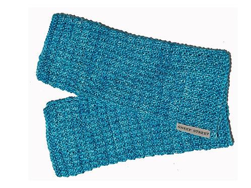 Aqua Fingerless Gloves