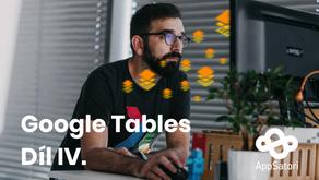 Pracujeme s Google Tables - díl IV. - Jak vytvořit první tabulku