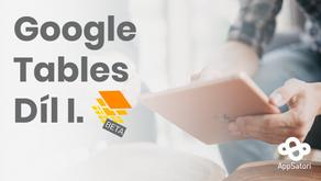 Pracujeme s Google Tables - díl I.