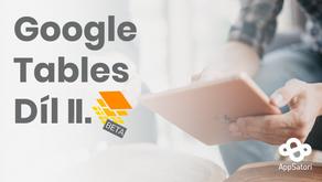 Pracujeme s Google Tables - díl II. - Organizace dat