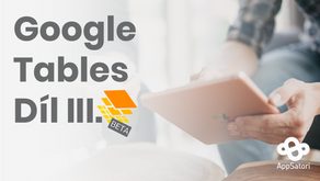 Pracujeme s Google Tables - díl III. - Úvodní stránka