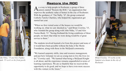 In the News: RESTORE THE ROC