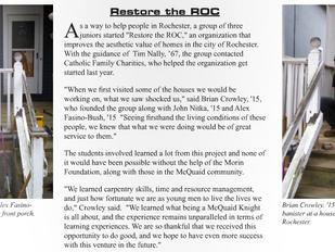 In the News: RESTORE THE ROC