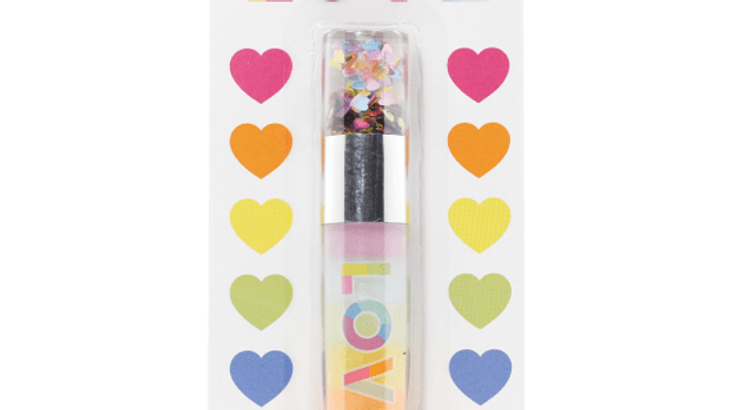 Love confetti lip gloss