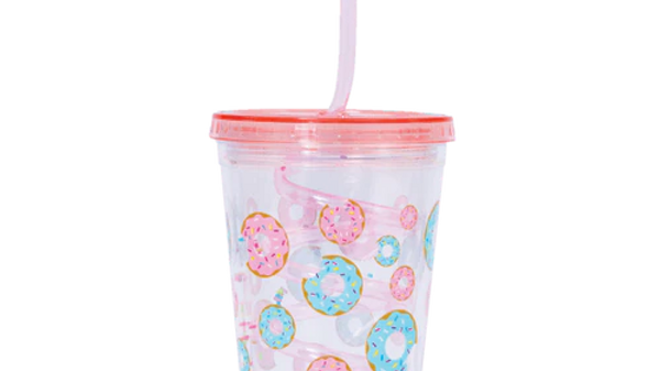 Donut straw cup