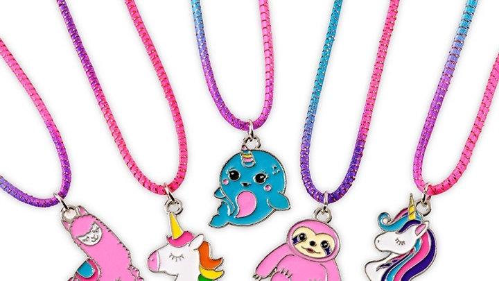Fantasy stretch necklaces