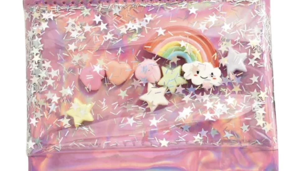 Floating rainbow charm coin purse