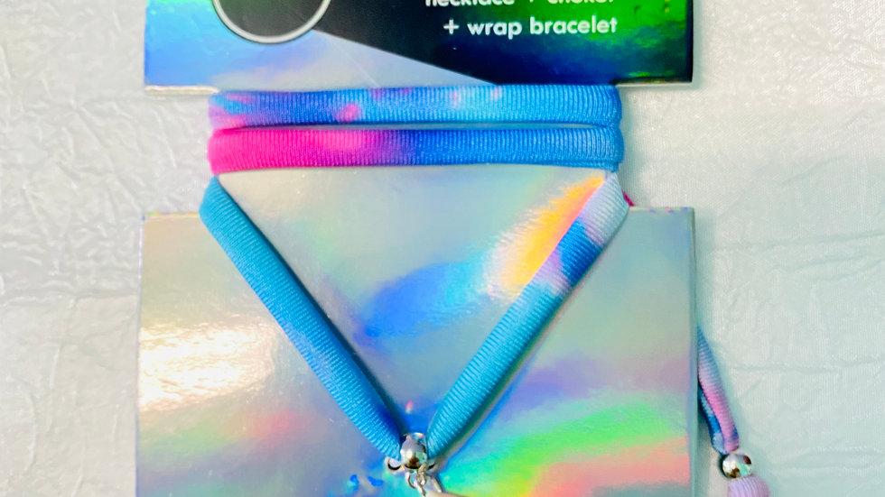 Sea shell 3 in 1 choker-tie dye