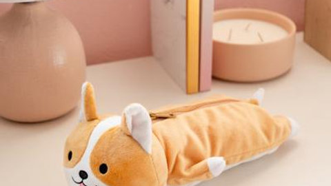 Milo corgi plush pencil case