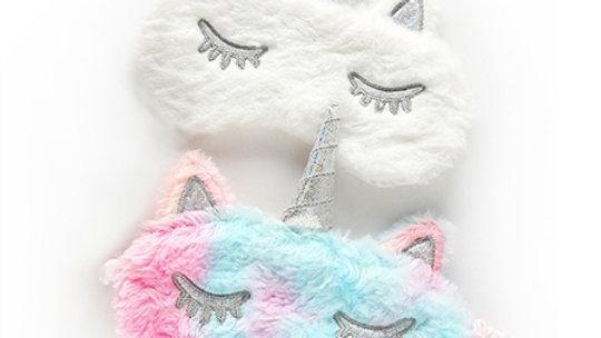 Furry unicorn sleep masks