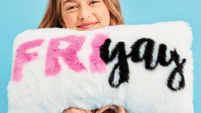 Friyay furry pillow