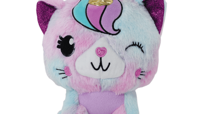 Furry caticorn stuffed animal