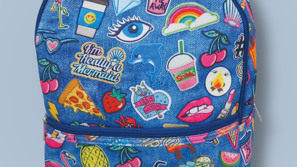 Embroidered patches neoprene backpack