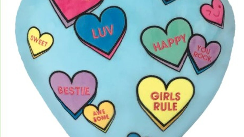 Candy hearts pillow`