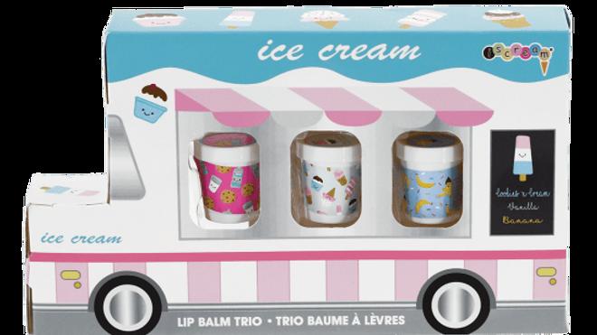 Ice cream truck lip balm trio