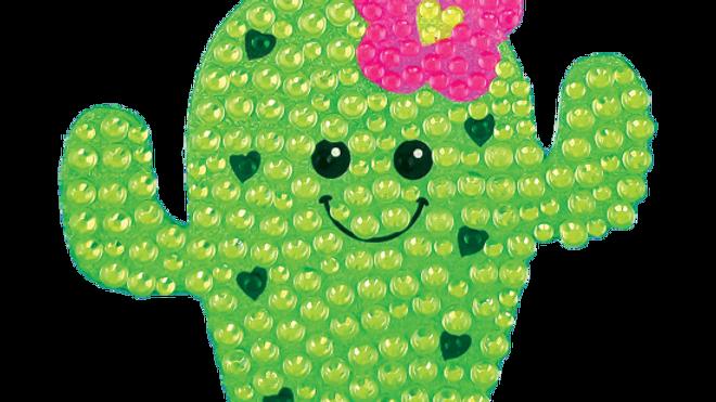 Cactus cutie rhinestone decal