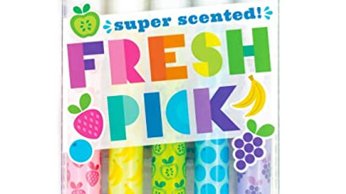 Fresh Pick Scented Neon Gel Crayon Highlighters