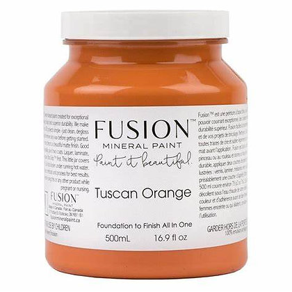 Fusion mineral paint Tuscan Orange 500ml, 37ml