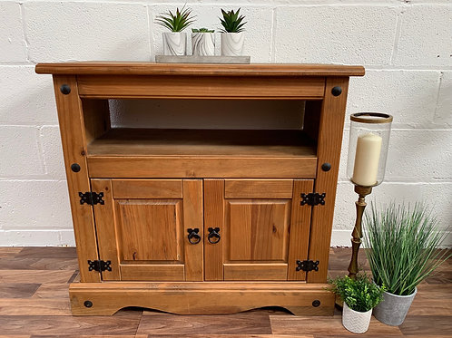 Mexican pine tv cabinet unit