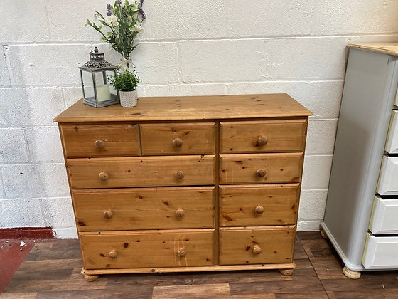 Custom/bespoke hand painted to order quality solid pine large chest of drawers