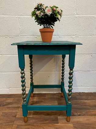 Barley twist hall/console/lamp/occasional table Emerald City and copper