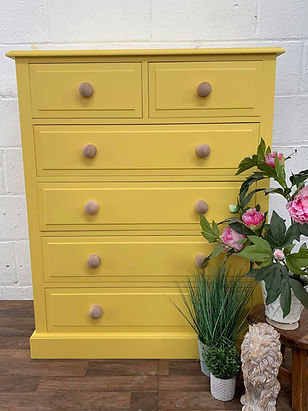 custom painted chest of drawers